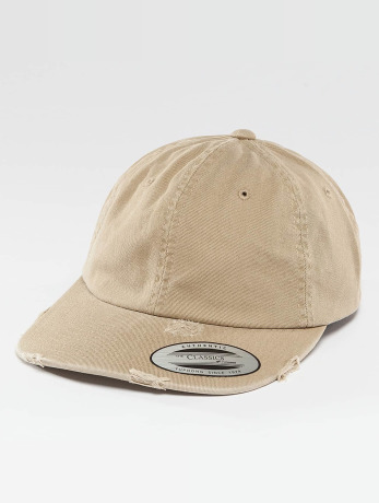 flexfit-manner-frauen-snapback-cap-low-profile-destroyed-in-khaki
