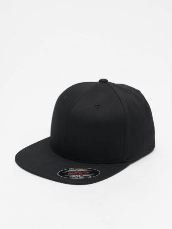 flexfit-manner-frauen-flexfitted-cap-flat-visor-in-schwarz