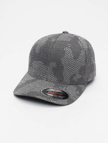 flexfit-manner-frauen-flexfitted-cap-jasquard-knit-in-grau