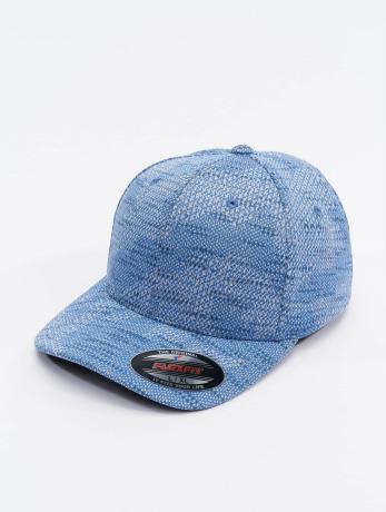flexfit-manner-frauen-flexfitted-cap-jasquard-knit-in-blau