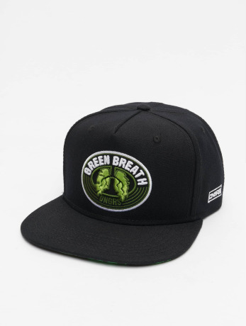dangerous-dngrs-manner-frauen-snapback-cap-green-breath-in-schwarz