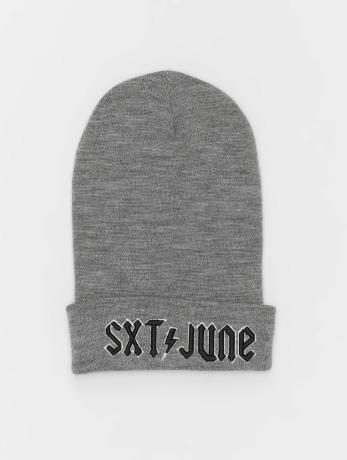 sixth-june-manner-frauen-beanie-sixth-june-logo-in-grau