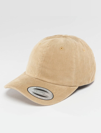 flexfit-manner-frauen-snapback-cap-low-profile-corduroy-dad-in-khaki