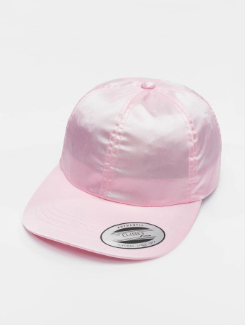 flexfit-manner-frauen-snapback-cap-low-pofile-satin-in-pink