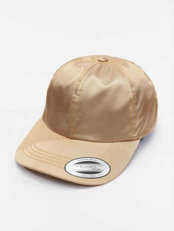 flexfit-manner-frauen-snapback-cap-low-pofile-satin-in-goldfarben