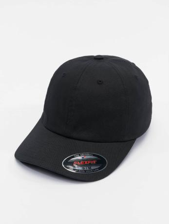 flexfit-manner-frauen-flexfitted-cap-cotton-twill-dad-in-schwarz