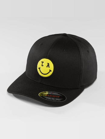 mister-tee-manner-frauen-flexfitted-cap-la-smile-in-schwarz