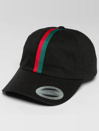 flexfit-manner-frauen-snapback-cap-stripe-dad-in-schwarz