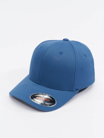 flexfit-manner-frauen-flexfitted-cap-wooly-combed-in-blau