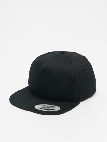 flexfit-manner-frauen-snapback-cap-classic-5-panel-in-schwarz