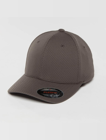 flexfit-manner-frauen-flexfitted-cap-3d-hexagon-in-grau