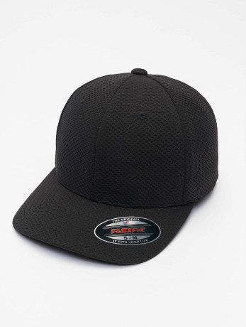 flexfit-manner-frauen-flexfitted-cap-3d-hexagon-in-schwarz