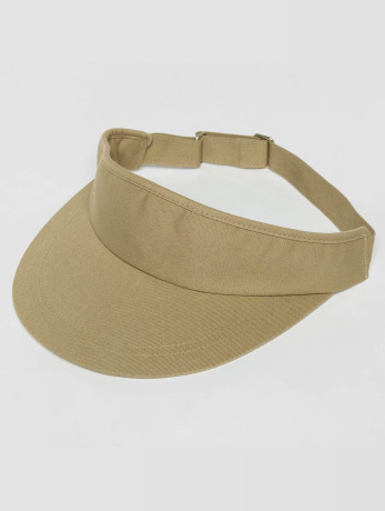 flexfit-manner-frauen-snapback-cap-flat-round-visor-in-khaki