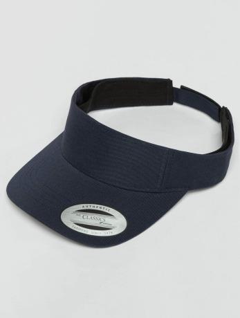 flexfit-manner-frauen-snapback-cap-curved-visor-in-blau