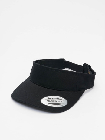 flexfit-manner-frauen-snapback-cap-curved-visor-in-schwarz