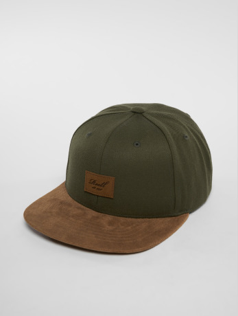 reell-jeans-manner-frauen-snapback-cap-suede-in-olive