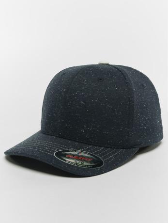 flexfit-manner-frauen-flexfitted-cap-pique-dots-in-blau