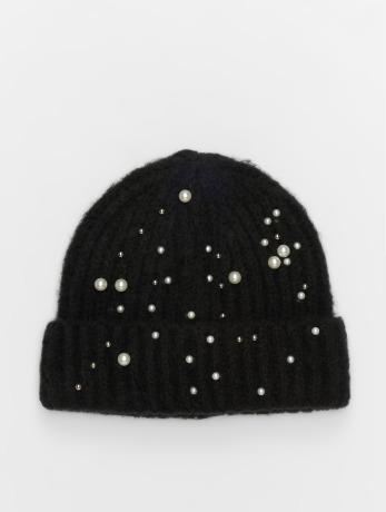 pieces-frauen-beanie-pcfelia-pearl-hood-in-schwarz