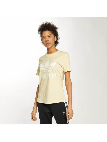 adidas-t-shirt Trefoil in geel