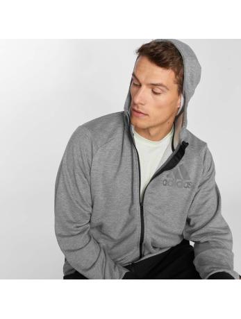 Fitness hoodie met rits Prime voor heren grijs