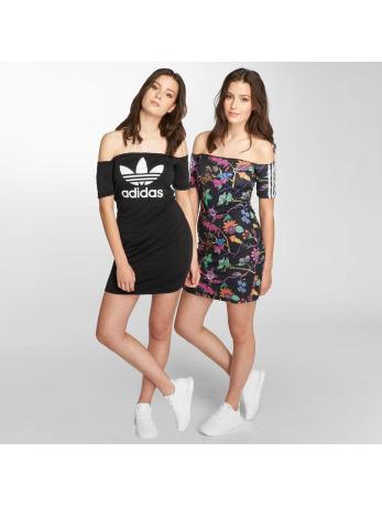 adidas originals-jurk No Shoulder in zwart