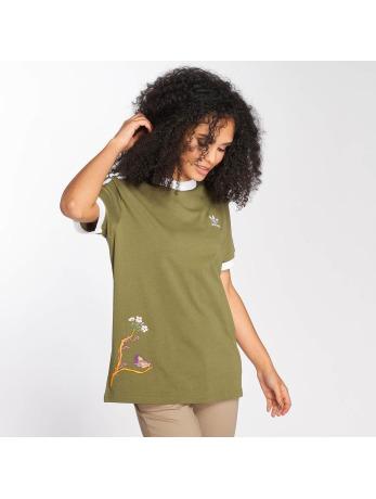 adidas originals-t-shirt originals Graphic in olijfgroen