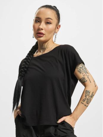 urban-classics-frauen-t-shirt-basic-drop-in-schwarz
