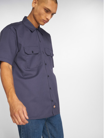 dickies-manner-hemd-shorts-sleeve-work-in-blau