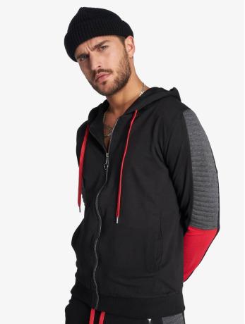 vsct-clubwear-manner-zip-hoodie-biker-in-schwarz