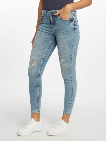 pieces-frauen-skinny-jeans-pcfive-mw-in-blau