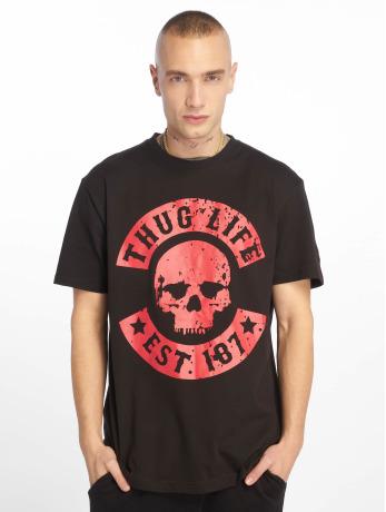thug-life-manner-t-shirt-b-distress-in-schwarz