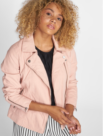 only-frauen-lederjacke-onlsaga-in-rosa