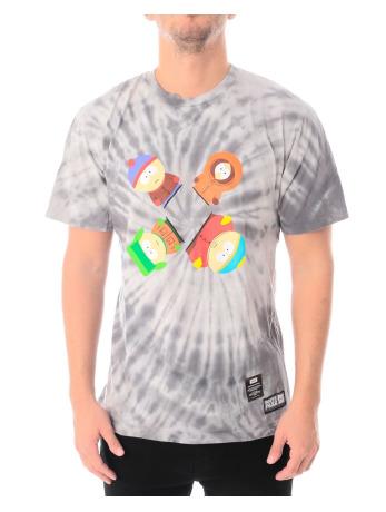 huf-manner-t-shirt-southpark-trippy-tie-dye-in-grau