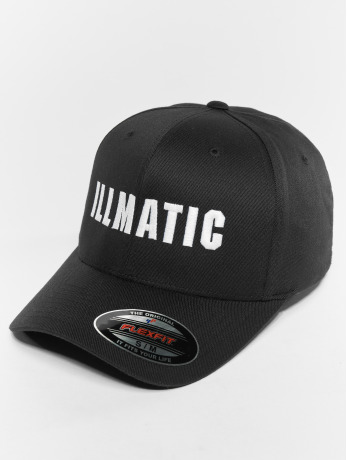 illmatic-manner-frauen-flexfitted-cap-inface-in-schwarz