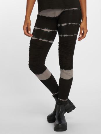 urban-classics-frauen-legging-striped-tie-dye-in-schwarz