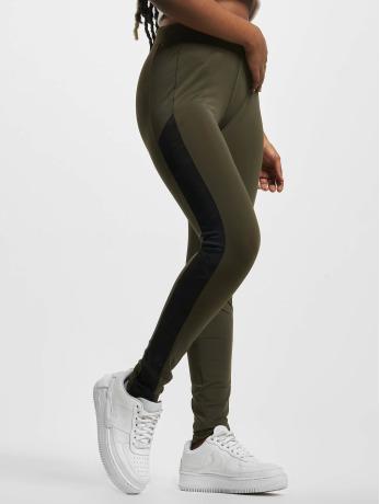 urban-classics-frauen-legging-jacquard-camo-striped-in-olive