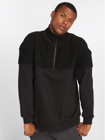 urban-classics-manner-pullover-oversize-sherpa-in-schwarz