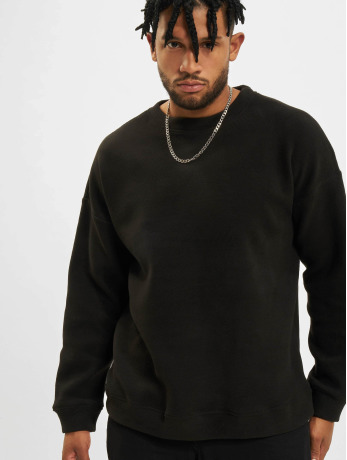 urban-classics-manner-pullover-polar-fleece-in-schwarz