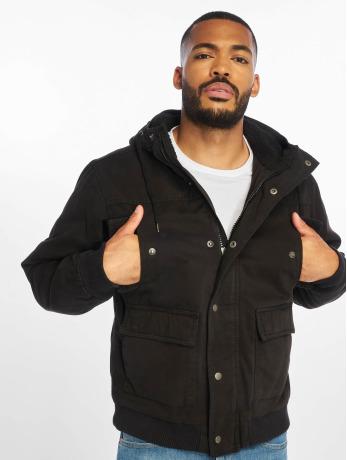 urban-classics-manner-winterjacke-hooded-cotton-in-schwarz