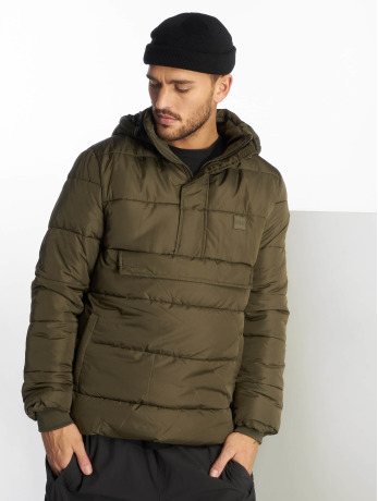 urban-classics-manner-puffer-jacket-pull-over-in-olive