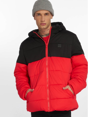urban-classics-manner-puffer-jacket-hooded-2-tone-in-rot