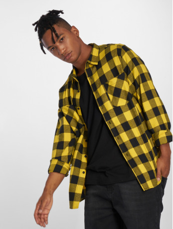 urban-classics-manner-hemd-checked-flanell-in-schwarz