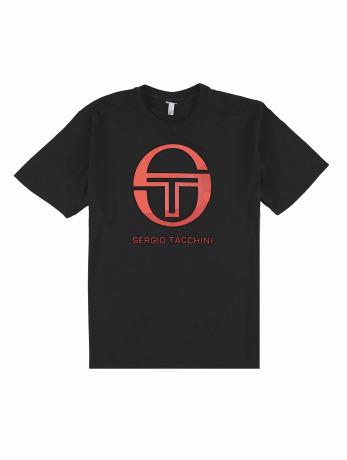 sergio-tacchini-manner-t-shirt-elbow-in-schwarz