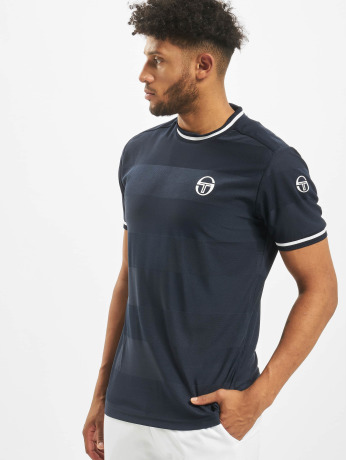 sergio-tacchini-manner-t-shirt-retro-in-blau