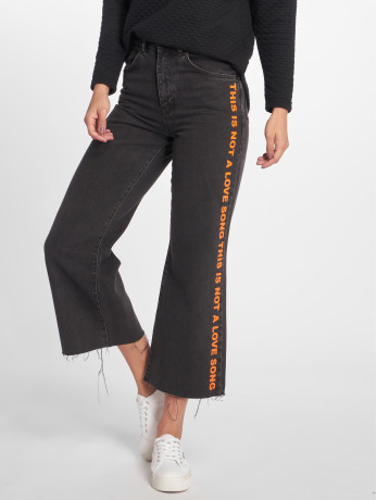 the-ragged-priest-frauen-high-waist-jeans-melody-printed-in-schwarz
