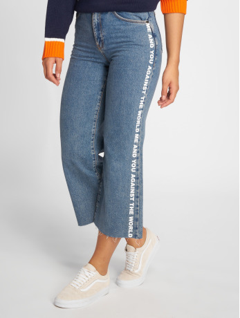 the-ragged-priest-frauen-high-waist-jeans-darling-printed-in-blau