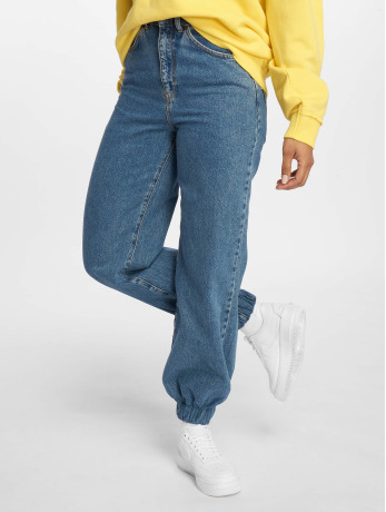 the-ragged-priest-frauen-high-waist-jeans-jog-on-in-blau