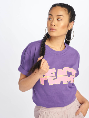 mister-tee-frauen-t-shirt-peace-tall-in-violet
