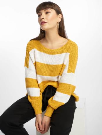 only-frauen-pullover-onlcampos-in-gelb