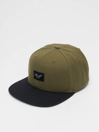 reell-jeans-manner-frauen-snapback-cap-pitchout-6-panel-in-olive
